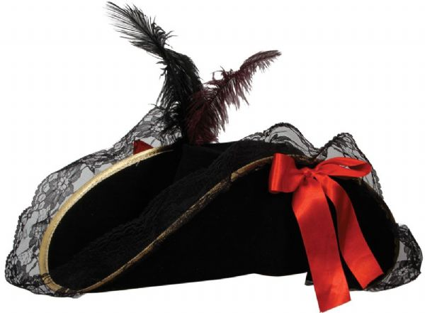 Pirate Hat - Deluxe with Feather